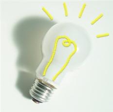 点灯する電球